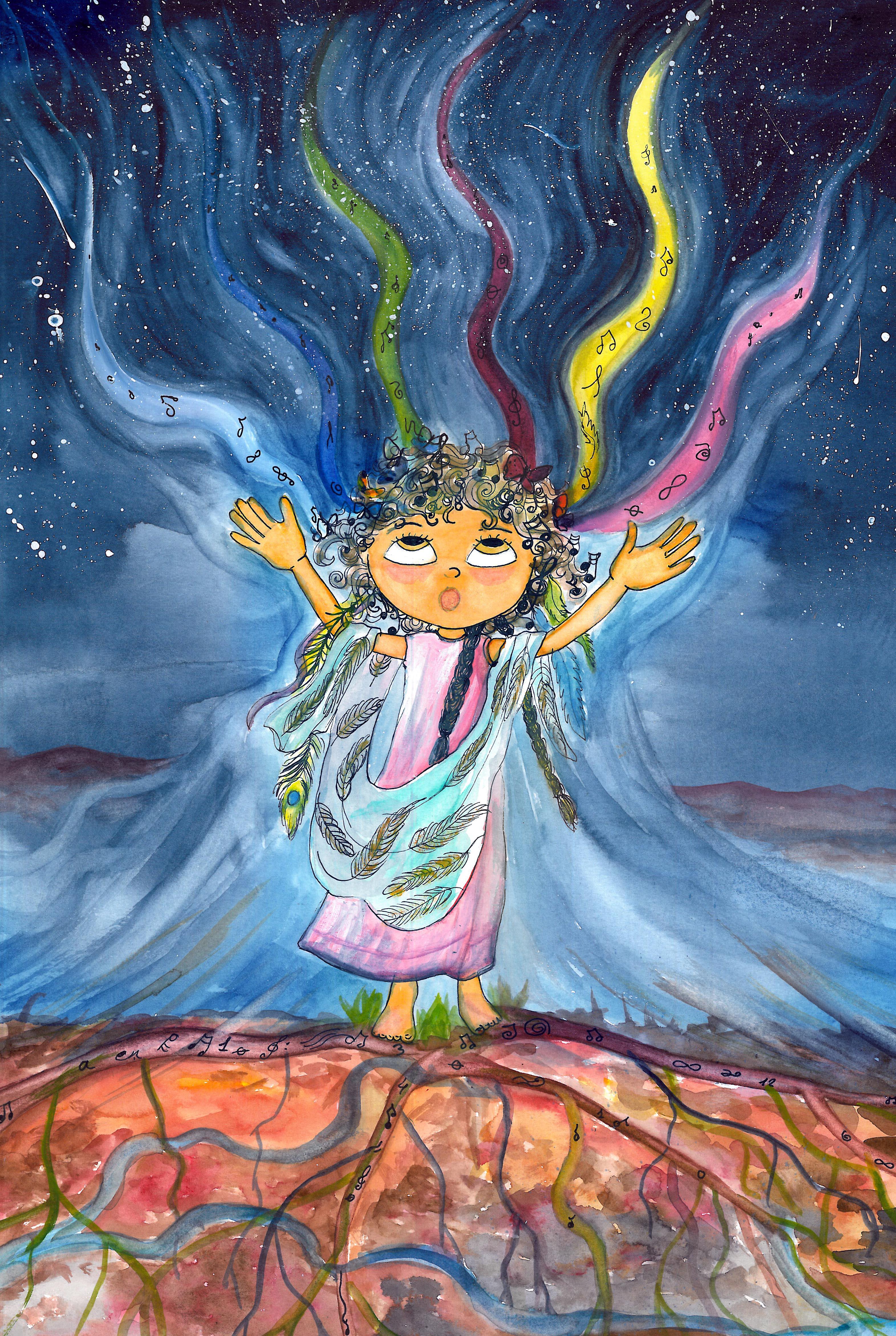 Dibujo de Tania Ruzs. Pintado por Gemma Sánchez